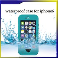 Wholesale HOT Redpepper Waterproof Case for iPhone inches With Fingerprint Identification Shockproof Cover With Retail Package Flydream
