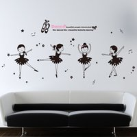 bedroom window covering - Ballet girl wall covering PVC wall paper house home windows adhesive wall stickers DIY your space