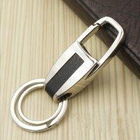 audi keyfob - 1Pcs Fashion Car Keychain Keyfob Handmade Leather Metal Key Chain Keyring For BMW VW Audi Mercedes Key Pendant