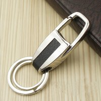 audi keyring - 1Pcs Fashion Car Keychain Keyfob Handmade Leather Metal Key Chain Keyring For BMW VW Audi Mercedes Key Pendant
