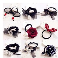 Cheap Pony Tails Holder elastic band ties Best Black Asian & East Indian many shpes hair rope HairTies