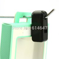 Wholesale White Black MM ABS Security anti theft Stop Lock For Stem Hooks