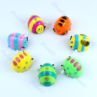 Wholesale M112 quot Funny Colorful Baby Kid Beetle Thumbing Somersault Running Clockwork Spring Toy