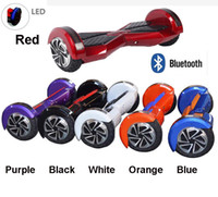 blue led - Self Balancing Electric Scooters quot Bluetooth Electric Scooter LED Music Smart Self Balancing Wheels Skate Board Drifting Hover Board
