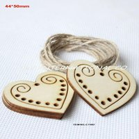 wooden hearts - Unfinished plain wooden heart tags key craft wishing tree tags CT1057