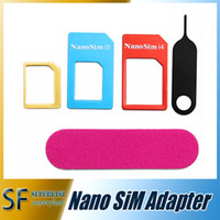 Wholesale For iphone s nano adapter convert nano sim card for iphone iphone reduction card set with retail package