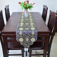earthing mat - Elegant Fancy Table Runners Chinese style Dining Table Mat High End Silk Brocade Coffee Table Cloth Table Linen for Wedding Party Decoration