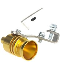 Wholesale New Universal Car Vehicle Turbo Sound Whistle Exhaust Pipe Tailpipe Fake BOV Blow off Valve Size XL cm Golden
