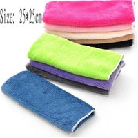 bamboo kitchen supplies - 10 cm bamboo fabric dish towel non stick oil towel multi colors available kitchen cleaning products supply