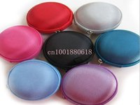 Cheap Free Shipping Colorful Carrying Hard Hold Case Storage Bag For Earphone Headphone Earbuds Key Coin Hard Holder Box 50pcs lot