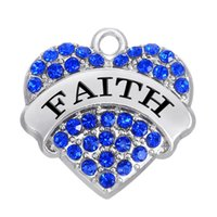b jewelry free - New Fashion Easy to diy a rhodium plated faith crystal jewelry accessories charm jewelry making fit for necklace or b