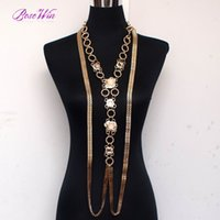 ancient egypt style - 2015 New Ancient Egypt Style Statement Jewelry Fashion Chunky Chain Welding Rhinestone Long Tassels Necklaces Women Dress CE3282