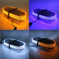 Wholesale 15W LED Color Strobe Emergency Warning Mini Strobe Light Bar Magnetic Base order lt no track