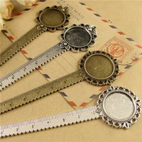 Wholesale pieces To fit mm mm blank antique bronze silver plated vintage style bookmark tray settings hm298