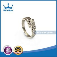 Wholesale Winmax Jewelry Vintage Minimalist Silver L Stainless Steel Women Ring for Wedding Engagement Party Width mm