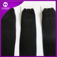 brazilian hair bundle jet black - Brazilian hair bundles Human Hair Weaves hair weft g inch Jet Black hair Extensions Harmony hair products
