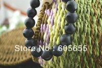 Cheap Fashion Jewelry Black tourmaline Stone Football Veins Elastic Line Bracelets 10 pc Per Lot Free Shipping