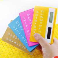 Wholesale South Korea Stationery Pocket mini candy color Portable Card Calculator