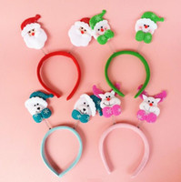 christmas fabric - Christmas head buckle Christmas cloth art gifts children holiday gifts hair hoop decorations CH01005