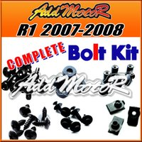Cheap Addmotor 125 Pieces Set Black Complete Fairing Bolt Kit Body Screws Fasteners For Yamaha YZFR1 2007 2008 YZF R1 07 08 Y17S