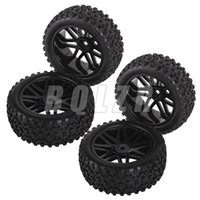 antenna mesh - 4Pcs Mesh Shape Wheel Rim and Rubber Tires for RC Off Road Car