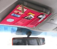 Wholesale freeshiping new bag for car Multi purpose automotive sunvisors grocery bag cm Visor to receive package Car Organizer