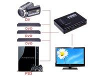 Wholesale Fashion Hot Mini Port P Video HDMI Switch Switcher HDMI Splitter with IR Remote splitter box