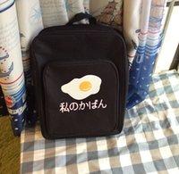 backpack chicken - Korean Ulzzang Cute Women Harajuku Backpack Chicken Egg Printing Women Canvas Double Shoulders Bag Harajuku Travelling Bag