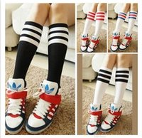 Wholesale Kids Cotton Socks Breathable Child Baby Long Sock Sports Socks Children Stockings Girls Cute Stripe Sock Fashion Princess Sock Half Socks