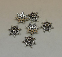 Wholesale A1010 bead cap pc g x10x3mm antique silver alloy jewelry accessories