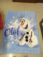 blankets - 10pcs Frozen Olaf Raschel Blanket frozen snowman olaf adventures Frozen anime raschel blankets NEW HOT IN STOCK