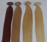 Cheap black flat tip hair Best straight 1.0g keratin hair