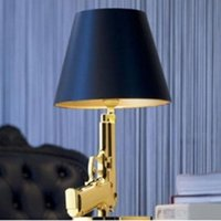 Wholesale Table Lamps Modern Pistol Table Lamps Creative Decoration Table Lights Gold Silver Table Lamps Study Living Room Bedroom Hotel