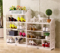 Wholesale 2016 European Shoe Rack Simple Carving Living Room Furniture Multilayer Dustproof shelf Large Capacity Storage Furniture