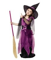 Wholesale Children Perform Clothes Witch Clothes Halloween Witch Suit Festival Supplies size