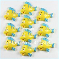 flounder fish - The Little Mermaid Friend Flounder Fish Resin Cabochon Flatbacks Flat Back Scrapbooking Hair Bow Center Crafts