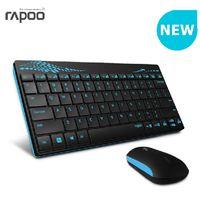 Wholesale 2016 Rapoo Wireless Keyboard Mouse Combo Mini Keyboard and Mouse Mini Mouse Wireless Keyboard Computer Mice