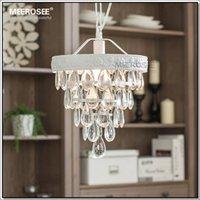 Precio de Casa comedor-Al por mayor-Vintage Mini lámpara de cristal Light Fixture Casa Blanca Lámpara de suspensión de luz para colgar Comedor, Porche Pasillo