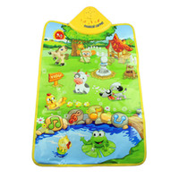 animal playmat - Delicate Music Sound Farm Animal Kids Baby Play Playing Mat Carpet Playmat Gym Toy Hot Selling