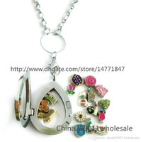 Cheap Free Shipping! plain Drop Living Floating Memory Glass Locket with necklace DIY charms for locket