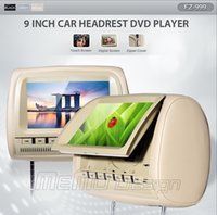 support MP4 - 2pcs Touch Screen inch Headrest car DVD player Support DIVX Support DVD CD CDG MP4 MP3 WMA JPEG SD MS MMC in Card Reader