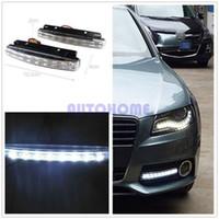 Wholesale 5 x White Car V DC Head Lamp Daytime Running Light LED DRL Daylight Kit order lt no track