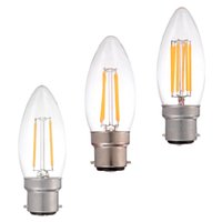 Wholesale B22 W W W Retro LED Filament Light Bulb VAC Cool Warm White Chandelier Candle Style Dimmable