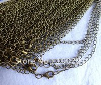 Wholesale Free ship cm length antique bronze chain jewelry chain pendant necklace chain x3mm