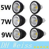 MR16 GU10 5W 7W 9W Led projecteurs COB ampoules LED blanc chaud / pur / froid led 85-265V + ROHS CE