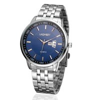 analog wedding bands - 2015 new Hot fashion casual watches men Steel band watches calendar quartz watch Men s Watches With sign of a man wedding Christmas gift