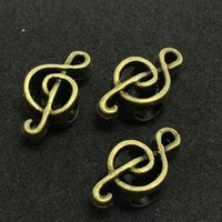 Wholesale 50pcs Antique Bronze Music Noted Bead Hole MM Spacer Beads Fit Round Cord for Bracelets Necklace Jewelry DIY Charms
