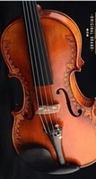 basswood carving wood - DHL Carved Advanced Italian Violin Sculpture Antique Spruce wood Violin Violino Musical instrument
