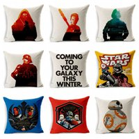 Wholesale Star Wars Pillow Covers Cartoon Minions Cushion Covers Linen Valentine Pillow Case Cover European Throw Pillow Cases Kids best Gift E342J