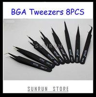 Wholesale 8PCS Antistatic BGA ESD Tweezers ESD ESD ESD ESD ESD ESD ESD ESD A2